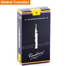 Vandoren Traditional Bb Soprano Sax Reeds Classical Soprano Sax Reeds Strength 2.5 / 3 reeds monolithic/Box of 10 Saxophone use