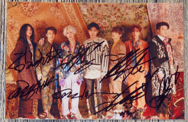 Signé S.J Super Junior groupe autographiée photo reconditionner 6 pouces freeshipping K-POP 042017