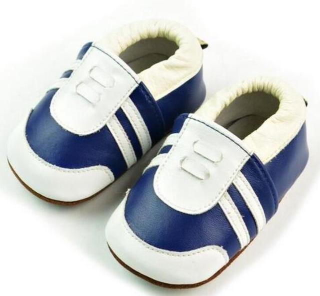 2017 Nuevos Mocasines Zapatos de Bebé Zapatos de los muchachos de Bebé de Cuero Genuino suela de goma dura Recién Nacido primer caminante Del Bebé zapatos del niño del bebé