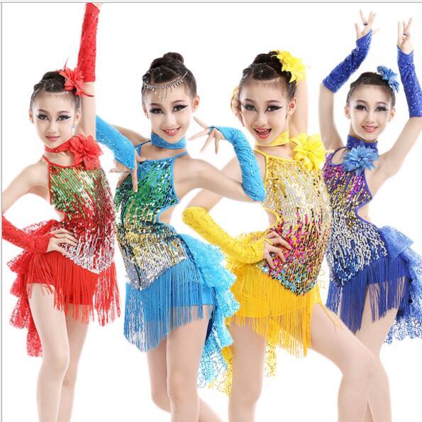 4e9e6aad Fringe Sequin Latino Samba Dance Costumes Latin Ballroom Dress For Ballroom  Dancing Franja Roupa Halteres Vestido De Baile