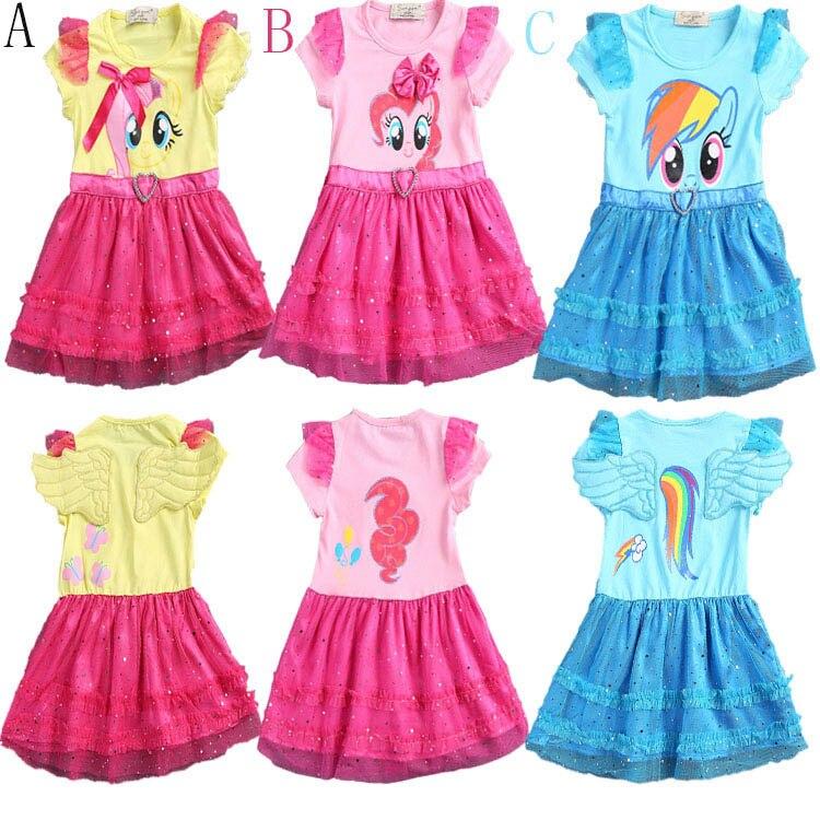 2016 little girls new fashion color gauze dress girls tutu ...