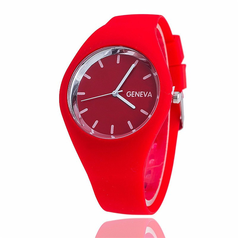 Perfect Gift Watches For Women Leisure Sports Candy-colored Jelly Quartz-watch Silicone Strap Ladies Bracelet Watch Relogio