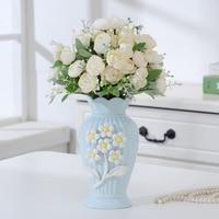 Europe Tabletop Vase Ceramic Flower Vase Home Table Decor Flower Pot Arrangement Garden Desk Ornament Creative vases