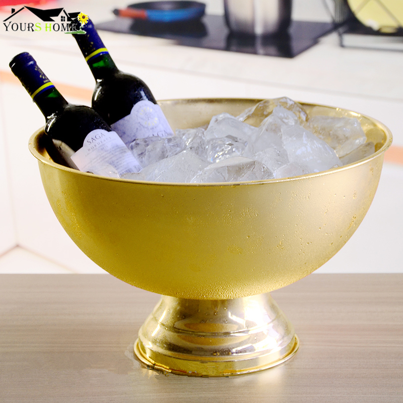 1 Pcs 13L Bucket Champagne 304 Stainless Steel Ice Bucket Granule Tube Champagne Barrel Ice Wine Barrel Silver/Copper/Gold1 Pcs 13L Bucket Champagne 304 Stainless Steel Ice Bucket Granule Tube Champagne Barrel Ice Wine Barrel Silver/Copper/Gold