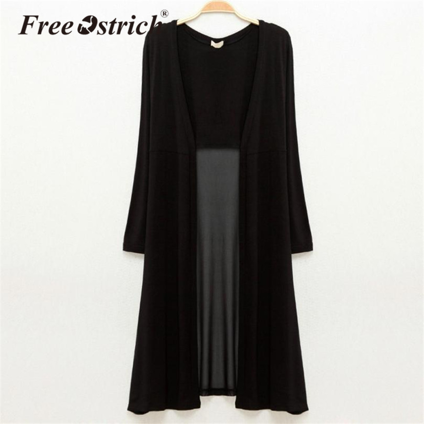 6ecec7f81c2 ... Swimwear Cover Up 2019 Women. US  8.04. Free Ostrich Chiffon Open  Stitch Summer Long Coat Loose Outerwear Spliced Perspective Full Sleeve O-