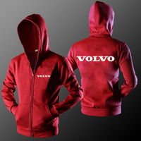 2018 Hot Sell Men Casual Sportswear VOLVO Car Logo Zipper Hoodies Men Sweatshirts Men Tracksuit Hip