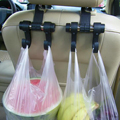 Black Automotive Car Back Seat Hooks for Grocery Shopping Hanger Flexible Car Rack Clip Car Headrest Bag Hook