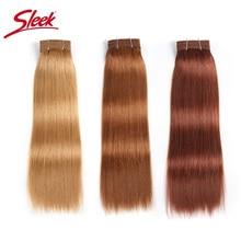 Sleek Double Drawn Braziliaanse Yaki Straight Menselijk Haar Weave Bundels Remy Pure Kleur Bruin Bordeaux Rood 99J Haar Bundels 113g