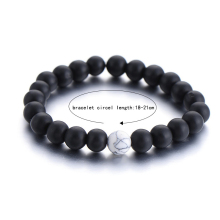 2pcs Set Bracelet Clic Natural Stone White And Black Bracelets For Men Women Best Friend Hot