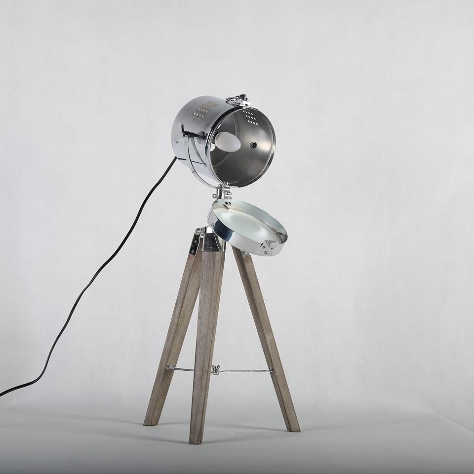 Retro Royal Wood tripod Table Search Light Lantern,Bronze led desk light flexible led desk light bar 5