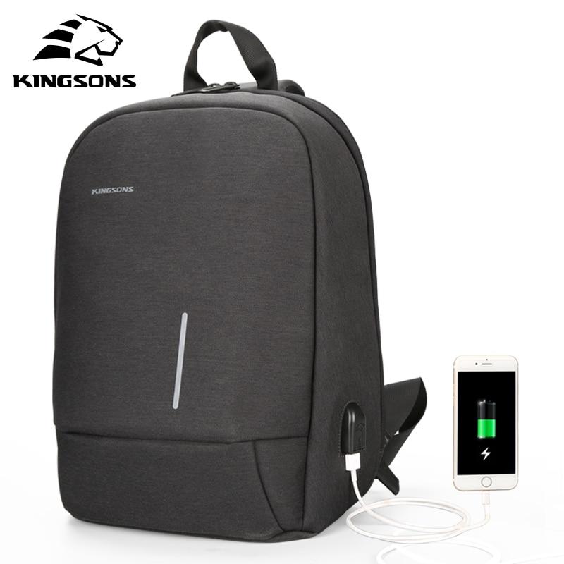 Kingsons Small Single Shoulder Backpack Men Women Mini School Backpack for Teenage Boys Girls Laptop Backpack 13.3 inch w/ USB
