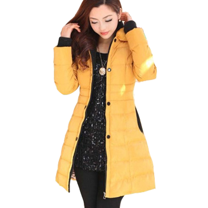ФОТО Sales fiery women cotton coat winter solid color double breasted jacket casual parkas elegant warm hooded overcoat parka 4 color