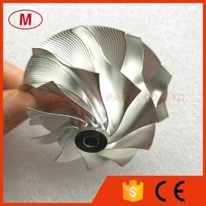 Image 3 - GT15 25 702549 0008HF V1 גבוהה Preformance טורבו אלומיניום 2618/Piont כרסום/בילט מדחס גלגל 50.20/65.00mm 10 + 0 להבים