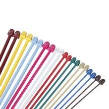 2017 NEW 20Pcs of Multicolor Plastic Knitting Needles Single Pointed Needles 10 Marked Sizes 2.0-6.5mm—Needle Length 36 cm