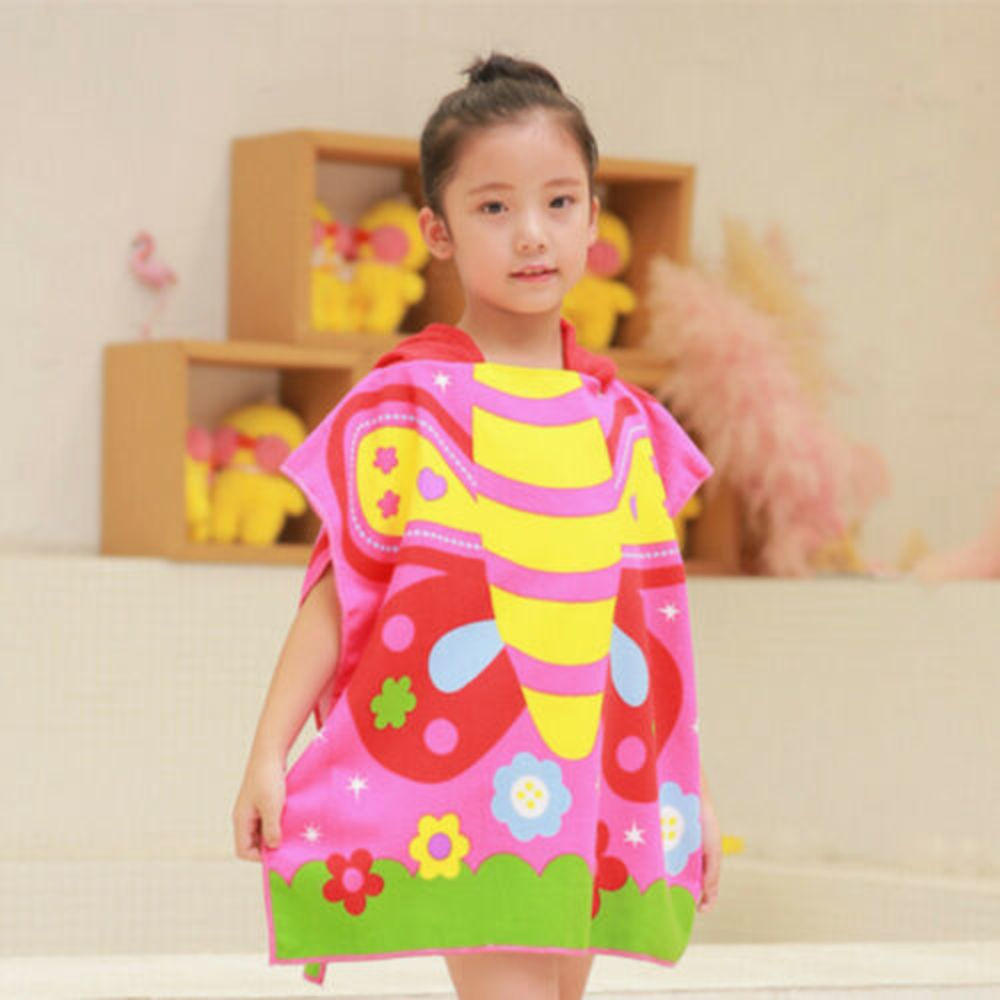NEW Kids Bath Soft Warm Wrap Hooded Robe Cloak Infant Blanket Kids Bath Towel Schwimmen Bademode Bad Tool <font><b>120X60</b></font> cm image