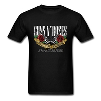 Guns N Roses T Shirt Short Sleeve Custom T Shirt Men Top Streetwear Plus Size Cotton