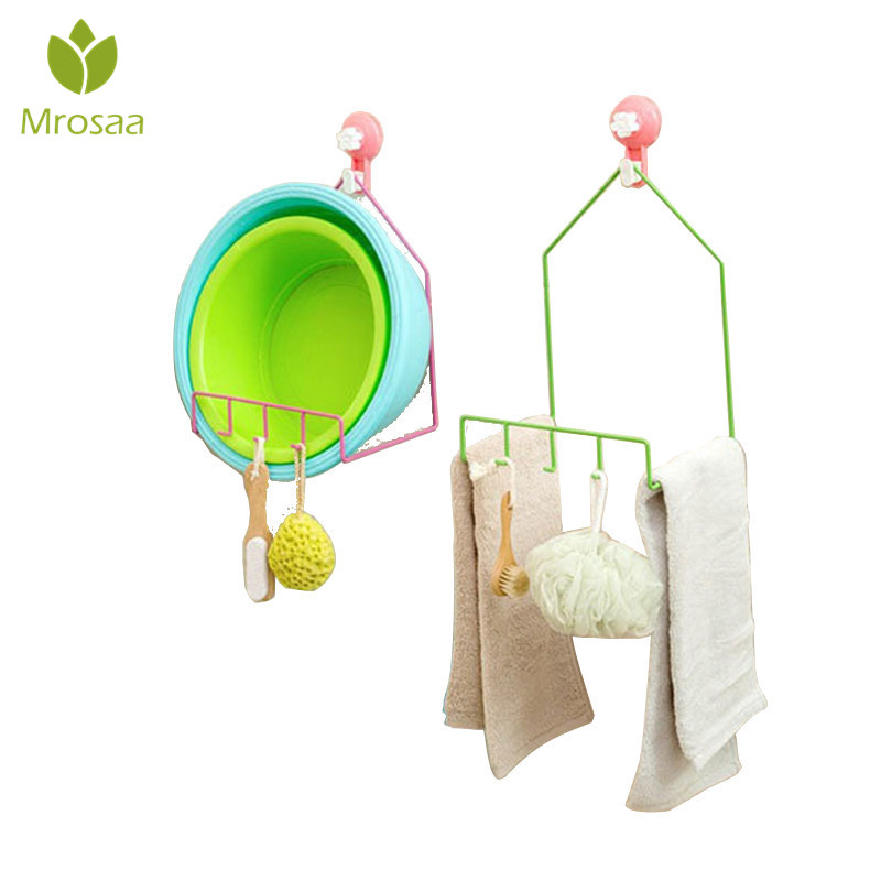 Hot Sale Wash Basin Storage Rack Bathroom Kitchen Storage Hook Shelving Multifunctional Powerful Sucker Hanger Holder