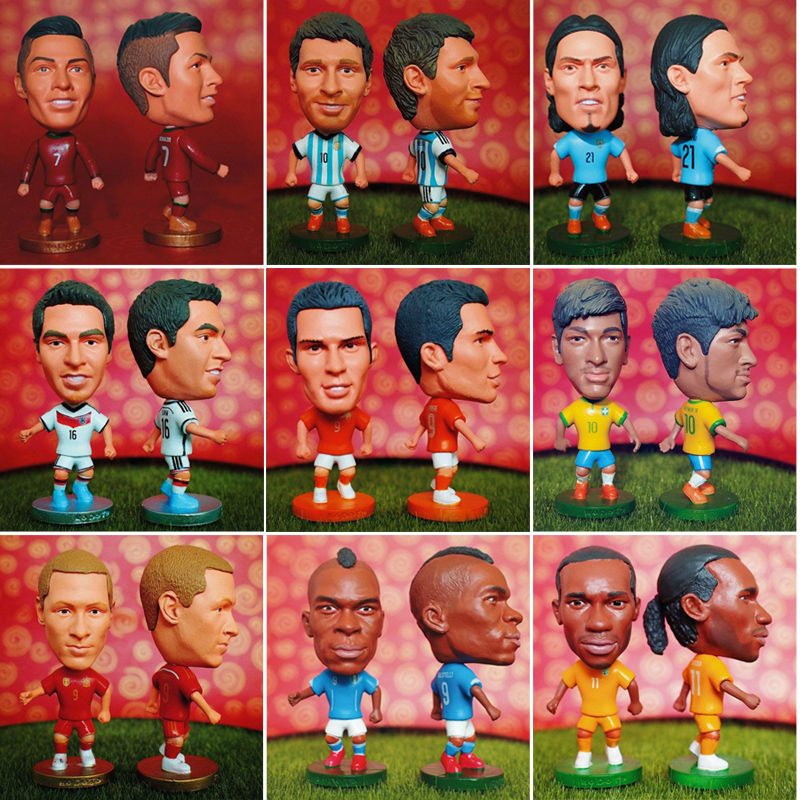 10pcs mix KODOTO Soccerwe Soccer Doll Football Basketball Star Dolls toy Figurine