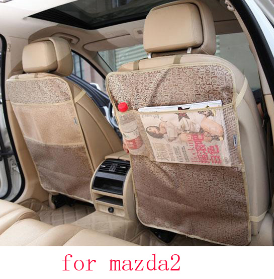for mazda 3 6 mazda cx-5 car seat covers Children Kick protector mat Seat Clean black beige waterproof car accessories interior ...