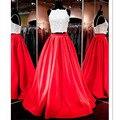 Alta Custom Made Mulher Elegante Vermelho de Cetim Vendidos Maxi Longo Desfile de Moda plissada Saias de Festa Natalícia 7XL Plus Size Outono saias