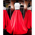 High Custom Made Woman Elegant Satin Red Sold Maxi Long Pleated Holiday Party Skirts Fashion Runway 7XL Plus Size AUtumn Skirts