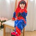 2018 Flannel Autumn Winter Clothes Pajamas Cartoon animals Spiderman Unisex Children Sleepwear Pajama for 4 6 8 10 12 Years Old