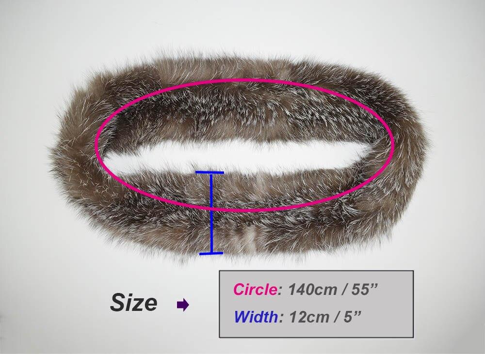 knit fox fur scarf size