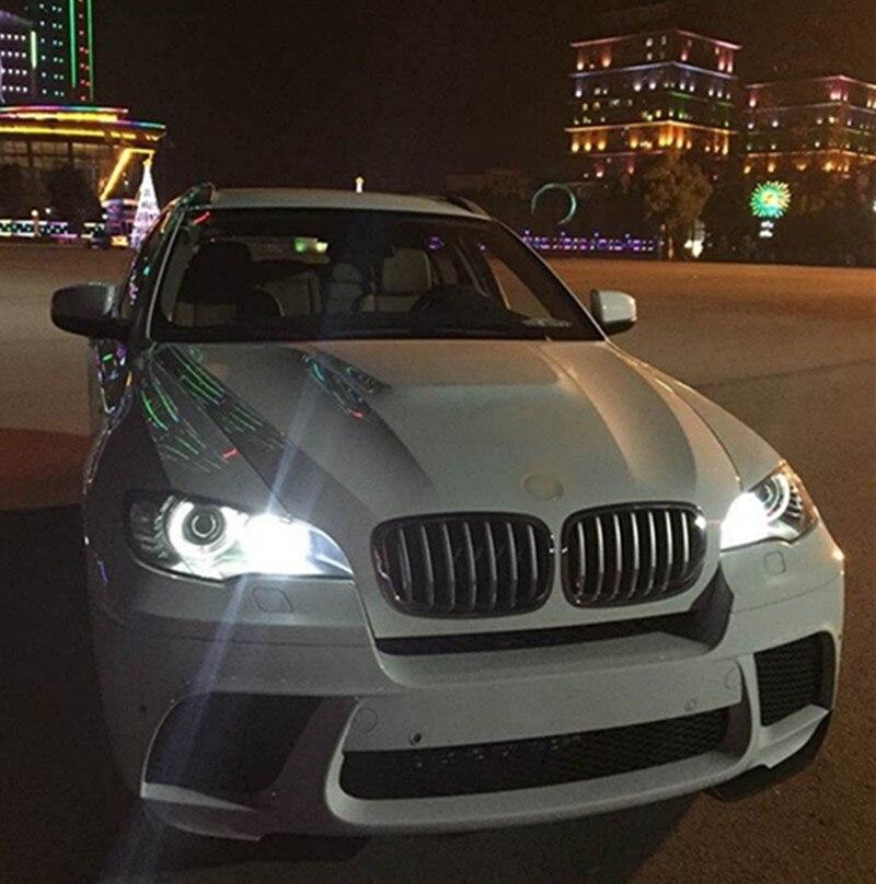 Новинка! яркая! Пара 80 Вт 2200LM CREE T6 U2 чипы свет ангела глаза H8 для BMW E87/E92/E60 /E63/E82/X5 CANBUS ОШИБОК ...