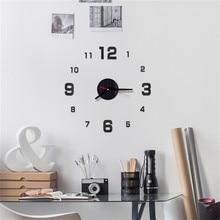 5d5e5d35d ساعة حائط 3D DIY الرومانية أرقام ساعة رقمية الحديثة تصميم الديكور المعيشة  غرفة نوم Muticolor الساعات