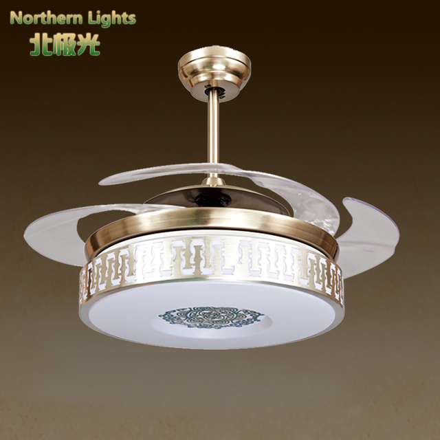 Led Luxury Crystal Ceiling Fan Lights Chandelier Modern