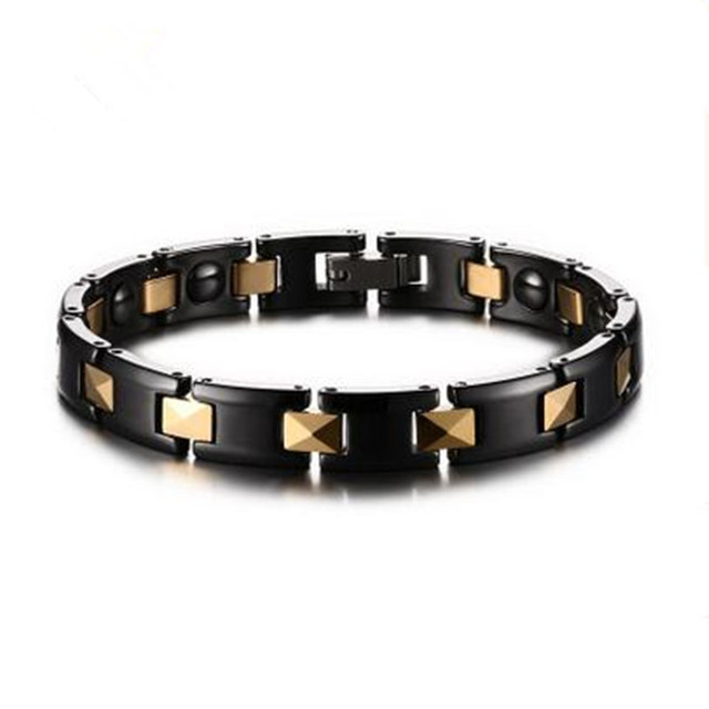 Male / female gold-plated stainless steel bracelet ceramic jewelry high quality titanium steel bracelet jewelry wholesale