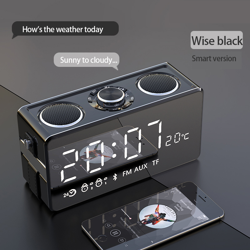 3 Speakers Subwoofer Mirror Double Alarm Clock Wireless Bluetooth Speaker Outdoor Large Volume Overweight Subwoofer 3d Surround3 Speakers Subwoofer Mirror Double Alarm Clock Wireless Bluetooth Speaker Outdoor Large Volume Overweight Subwoofer 3d Surround