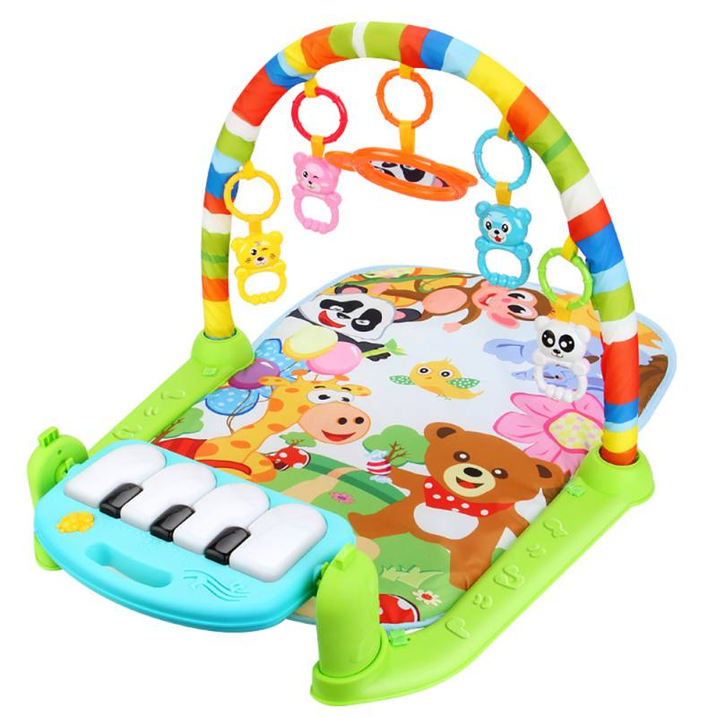 все цены на Multifunctional Baby Play Mat Activity Piano Pedal Fitness Frame Music Bed Bell Play Soft Gym Toy Floor Crawl Blanket carpet