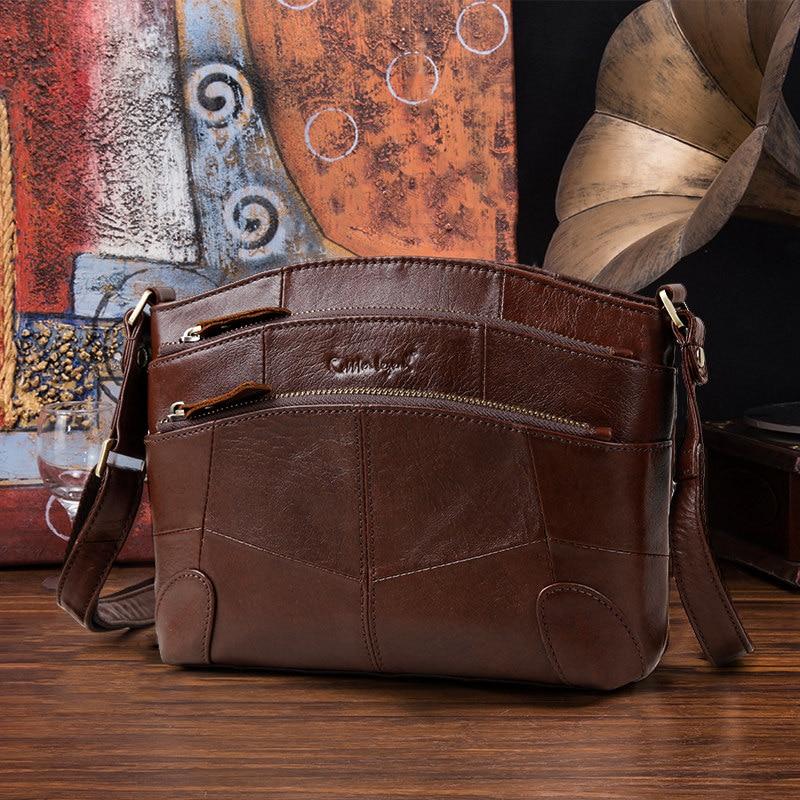 Zapatero leyenda Multi bolsillos Vintage bolso de cuero genuino pequeños bolsos de las mujeres bolsas para mujeres 2018 bolso de Crossbody del hombro