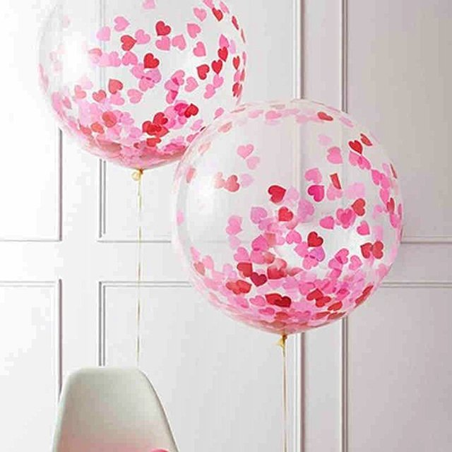 15 pieces heart shaped confetti balloons 12 inches wedding balloons 15 pieces heart shaped confetti balloons 12 inches wedding balloons with beautiful confetti dots latex balloon junglespirit Images