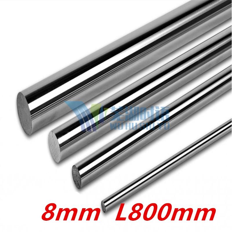 6pcs/lot  Free shipping 8mm  L800mm  cnc linear rails linear rail 8mm rails chrome plated free shipping hgr20 750mm rails 6pcs hgr20 400mm rails 2pcs hgw20cc 16pcs
