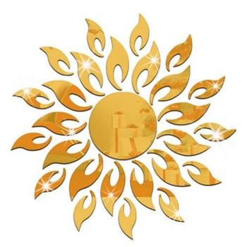 3D Mirror Sun Flower Art Removable Wall Sticker Acrylic Mural Decal Home Room Decor Hot 7