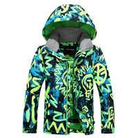 Novo Gsou Neve do Inverno Crianças Tops Super Calor À Prova de Vento Meninos Jaqueta Crianças Quente Jaqueta de Esqui de Esqui Garoto Roupas XS S M L Tamanhos