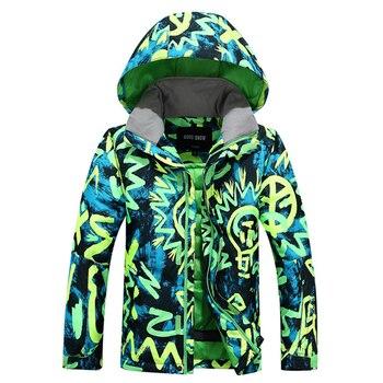 Nouveau Gsou neige hiver enfants hauts Super chaleur coupe-vent garçons veste de Ski chaud enfants veste de Ski enfant vêtements XS S M L tailles