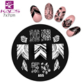 KADS A55 New Arriving Series Flower Nail Stamping Plates Polish Stamping Nail Art Manicure Template Nail Stamp Tools