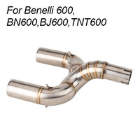 Motorcycle exhaust For Benelli 600 BN600 BJ600 TNT600 Modified Motorcycle Link Middle Connect Pipe Without Exhaust