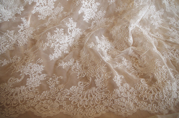 bridal lace fabric, cord lace fabric, alencon lace fabric with retro floral new arrival 1yard