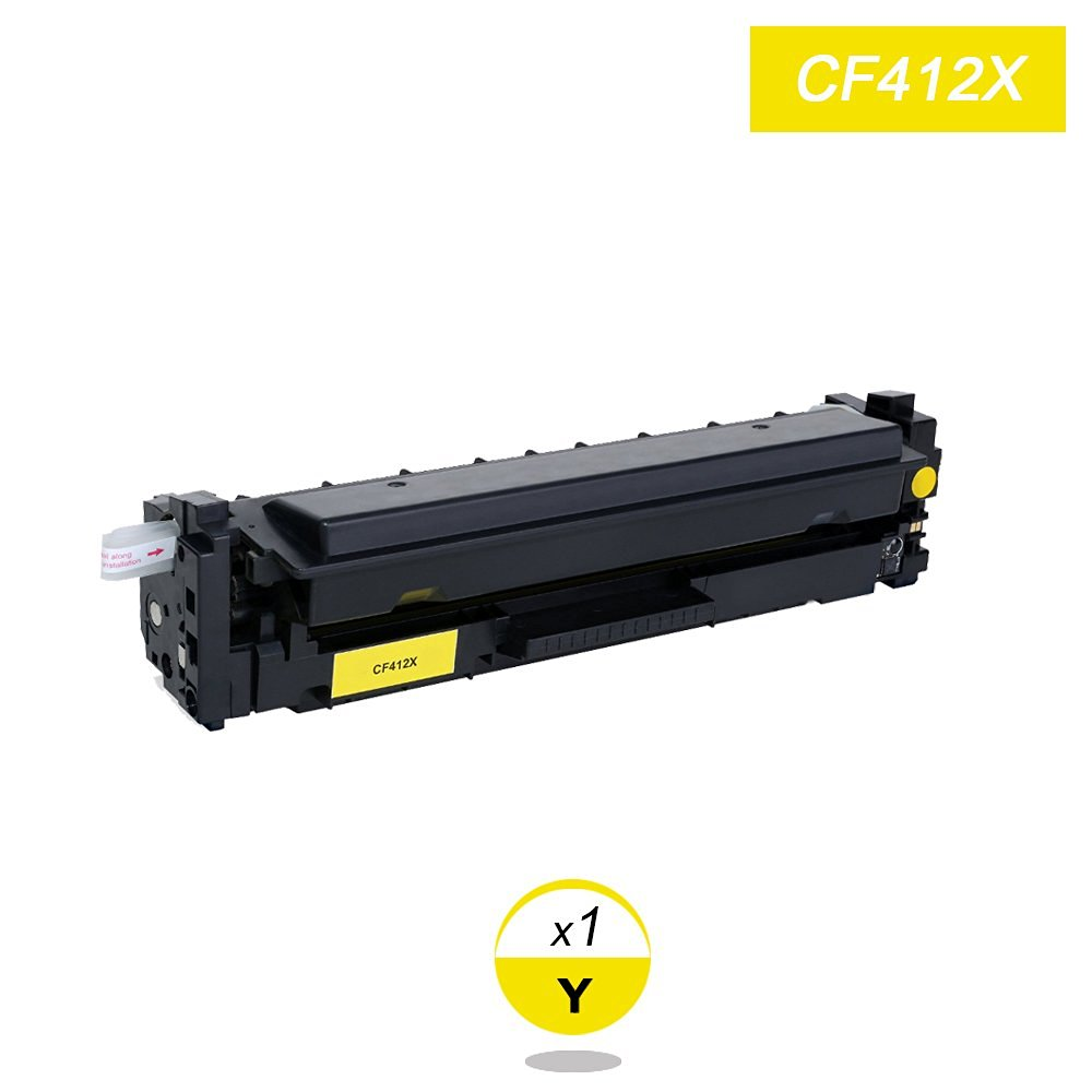 Yellow Toner Compatible for HP Laserjet Pro CF412X  M452 dn / dw / nw M470 Tri-Color 5000 pages Free shipping Hot Sale 2x non oem toner cartridges compatible for oki b401 b401dn mb441 mb451 44992402 44992401 2500pages free shipping