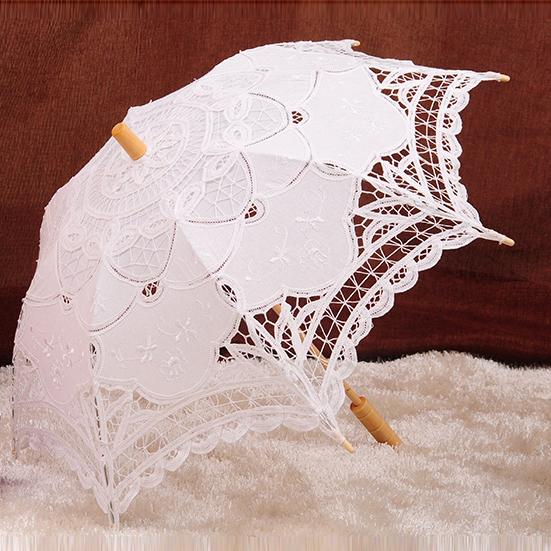 Frete grátis Lace abertura Manual do guarda-chuva de casamento nupcial Parasol Umbrella acessórios para o casamento chá de panela guarda-chuva u01