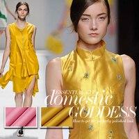 Beautiful Gold Pink 19 Mommes Silk Stripe Bombonony Slanting Mulberry Silk Fabric