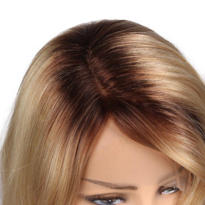 BCHR термостойкие синтетические Кружева Фронтальные длинные золотые Ombre Цвет парик 24For все Для женщин
