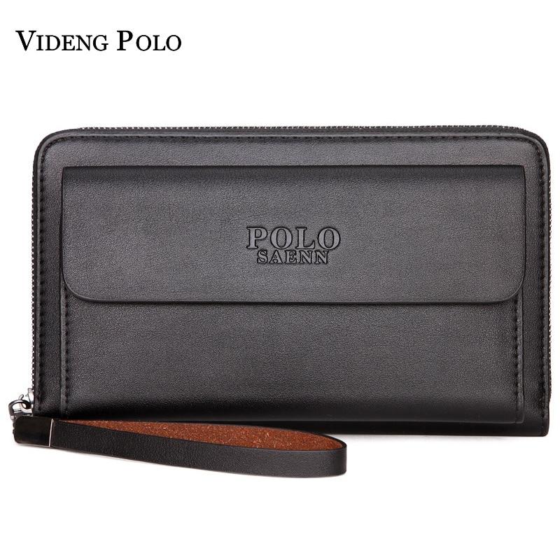 2018 New Casual Men Wallets Leather Clutch Bag Brand Male Purse Standard Card Holders Long Wallet For Man Money Pocket Handy Bag