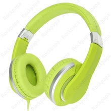 kanen i20 Green Foldable Stereo Dj Style Adjustable Headphones Headset with Microphone for iPhone iPod Mp3