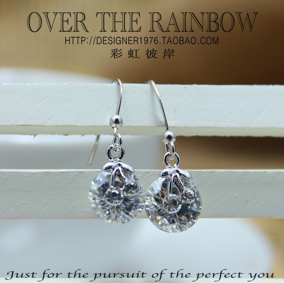 New fashion hot-selling 2 cherry big drop earring earrings sparkling