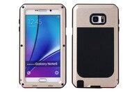Impermeabile Antiurto Contro Lo Sporco Copertura Della Cassa di Alluminio Gorilla Metallo Per Samsung Galaxy Note3/Note4/Note4 Bordo/Note5 Moda rosso